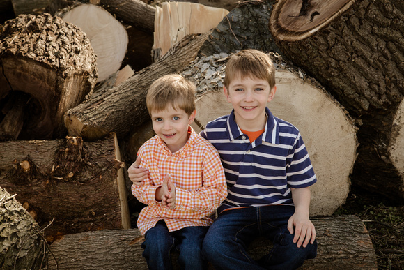 Two brothers from a family photo session at the Binky Lee Preserve in Chester Springs, PA