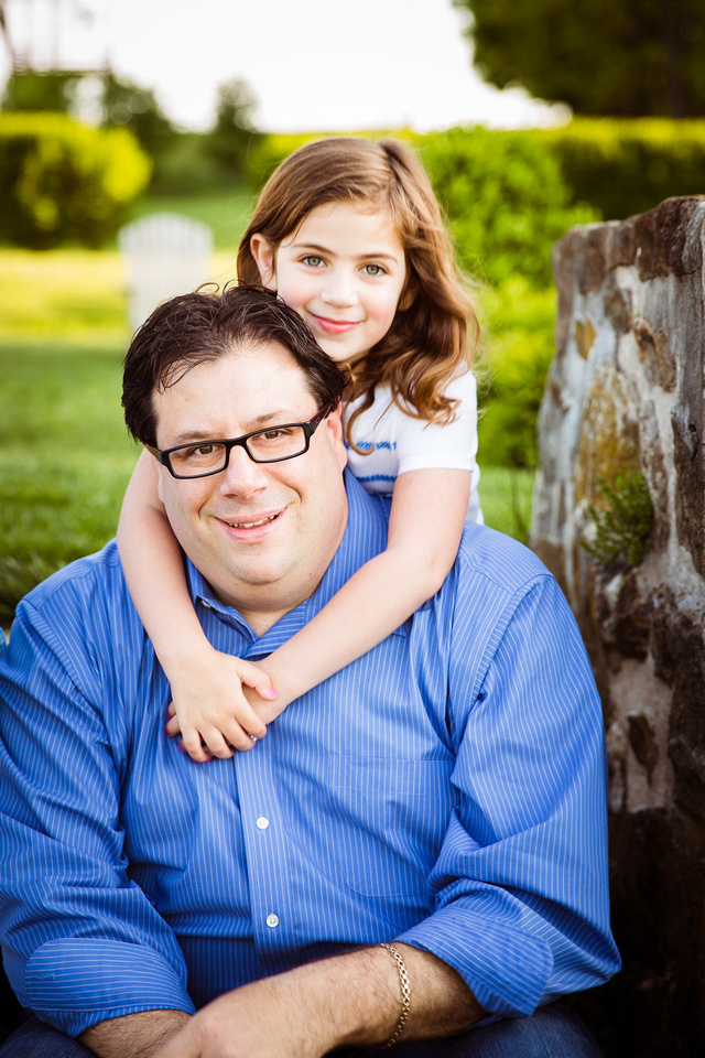 Father and daughter image from recent photo session at Wyebrook Farm
