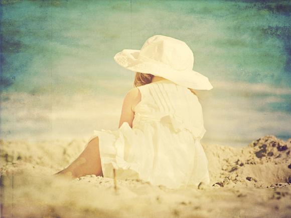 Little girl enjoying rehoboth beach delaware
