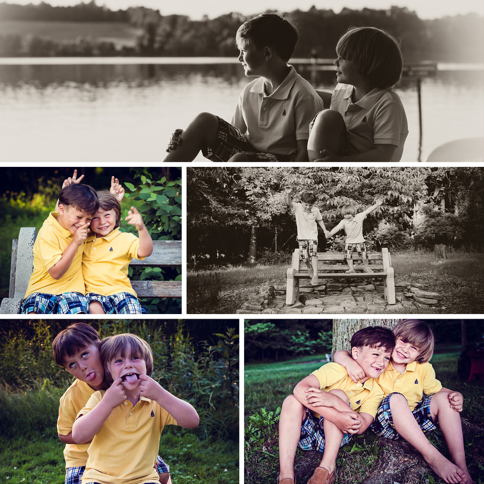 photo session of two brothers at Marsh Creek State Park