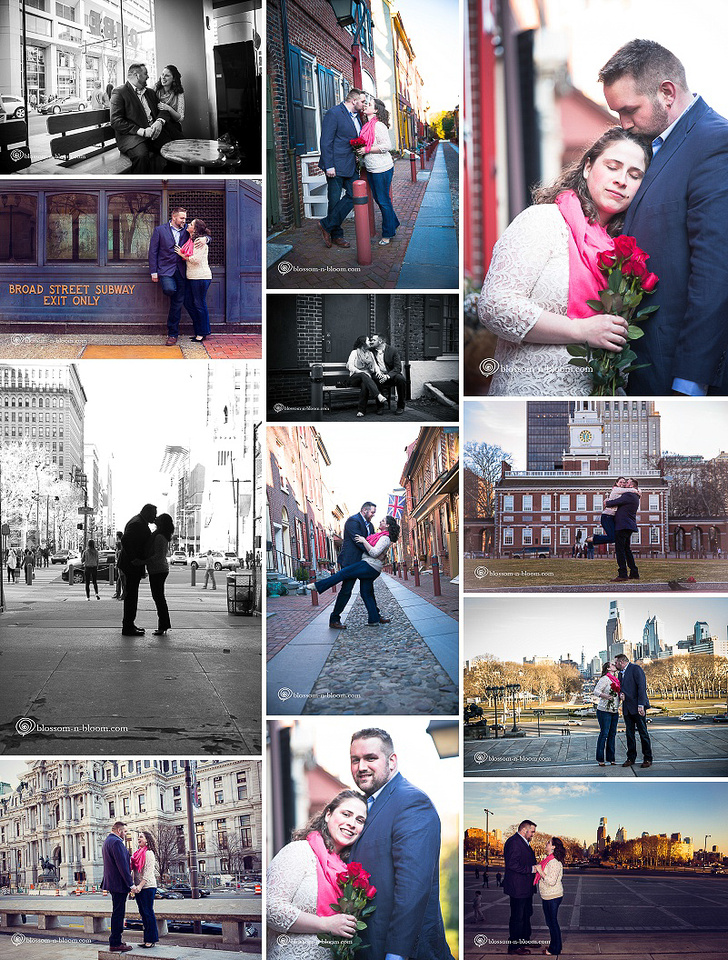 Photo from engagement session in Philadelphia, photo from engagement session at Philadelphia's Love Park, Love Park photo session, Philadelphia Area Photographer, Center City Photo Session, Engagement photos in Elfreth's Alley, Engagement photos Independence park, Independence Hall