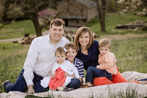 Family photo session in Chester Springs at a beautiful outdoor setting