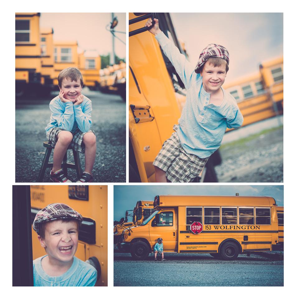 Photo session location idea for little boy