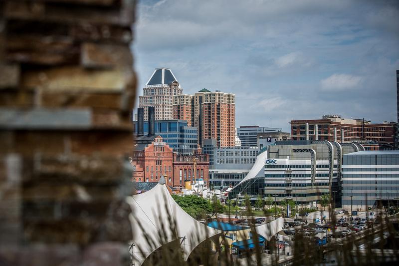 Baltimore Inner Harbor Rooftop View
