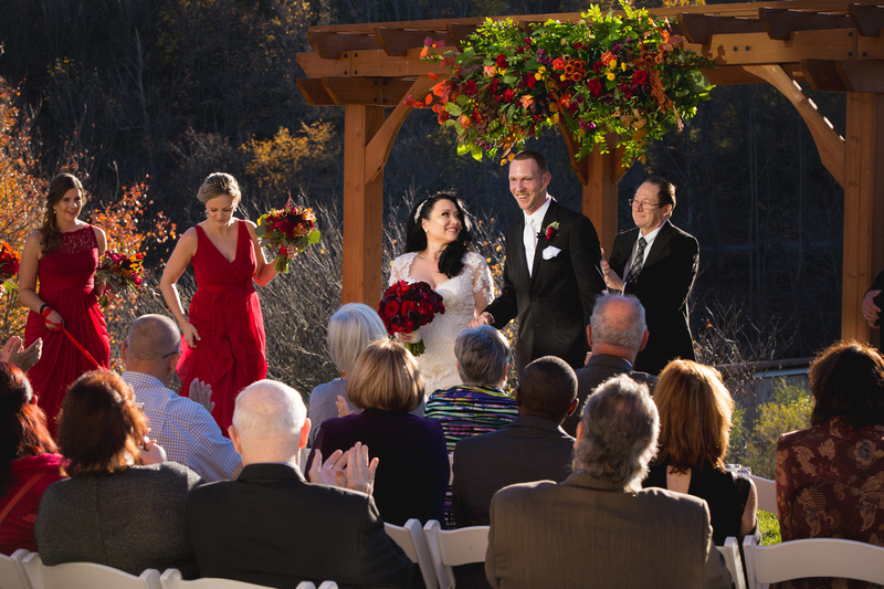Beautiful  fall wedding at the Glasbern Country Inn in Fogelsville, PA